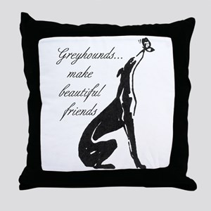 Greyhound Butterfly Throw Pillow
