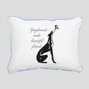 Greyhound Butterfly Rectangular Canvas Pillow