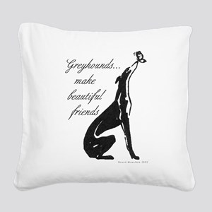 Greyhound Butterfly Square Canvas Pillow