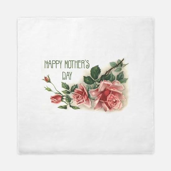 Mothers Day Roses Queen Duvet
