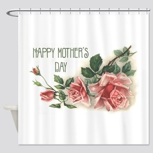 Mothers Day Roses Shower Curtain