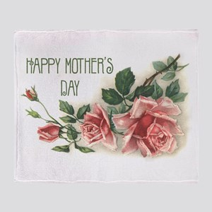Mothers Day Roses Throw Blanket