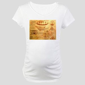 Steampunk Airship Maternity T-Shirt