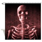 Scary Skeleton Shower Curtain