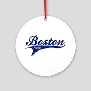 Boston Strong Ballpark Swoosh Ornament (Round)