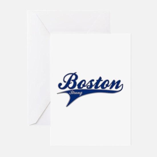 Boston Strong Ballpark Swoosh Greeting Cards (Pk o
