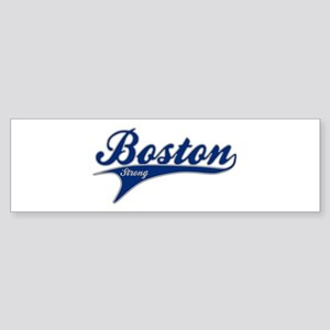 Boston Strong Ballpark Swoosh Bumper Sticker