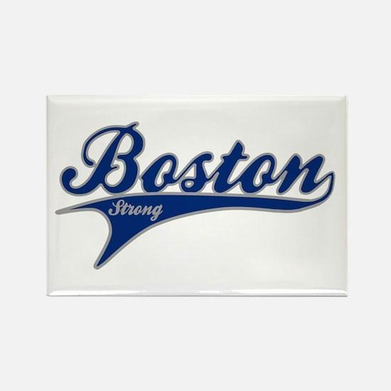 Boston Strong Ballpark Swoosh Rectangle Magnet