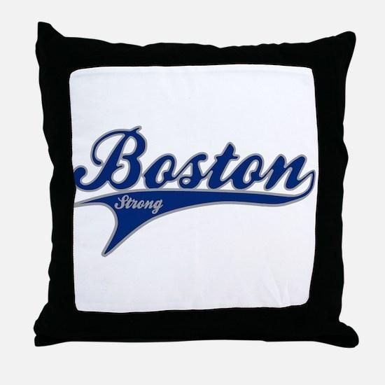 Boston Strong Ballpark Swoosh Throw Pillow