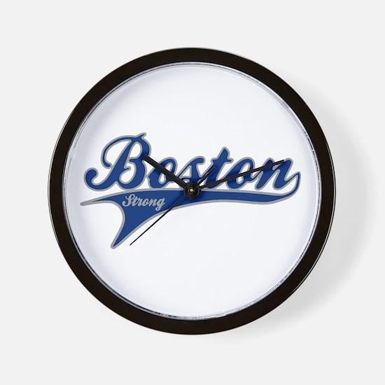 Boston Strong Ballpark Swoosh Wall Clock