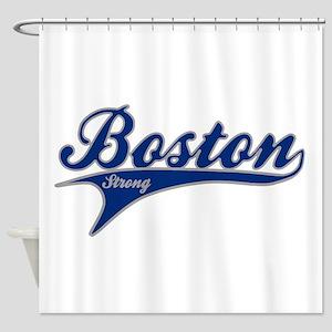 Boston Strong Ballpark Swoosh Shower Curtain