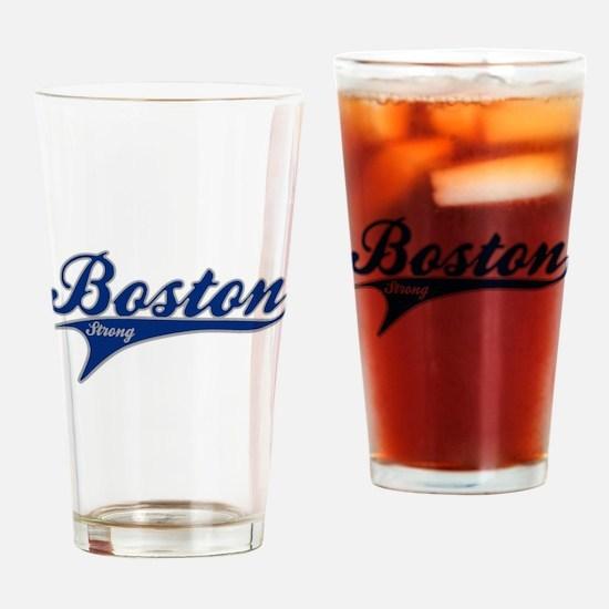 Boston Strong Ballpark Swoosh Drinking Glass