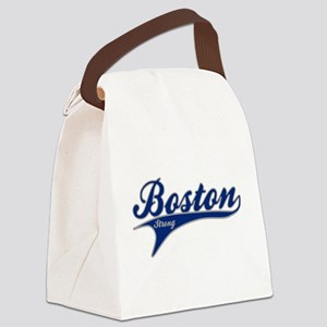 Boston Strong Ballpark Swoosh Canvas Lunch Bag
