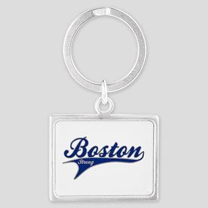 Boston Strong Ballpark Swoosh Keychains