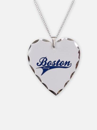 Boston Strong Ballpark Swoosh Necklace