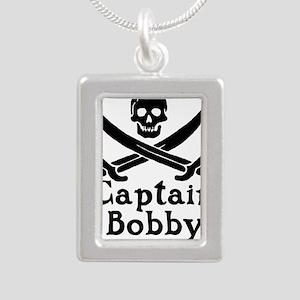 Captain Bobby Silver Portrait Necklace
