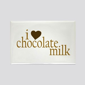 I Love Chocolate Milk Rectangle Magnet
