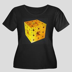 Yellow Menger Sponge Plus Scoop Neck Dark T-Shirt
