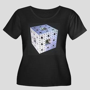 Silver Menger Sponge Plus Scoop Neck Dark T-Shirt