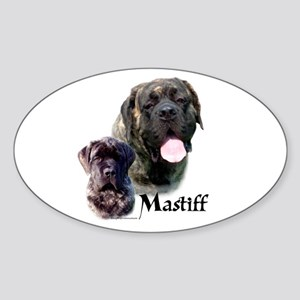 Brindle 19 Oval Sticker