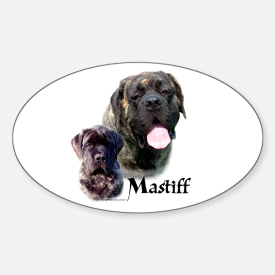 Brindle 19 Oval Decal