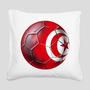 Tunisian Football Square Canvas Pillow