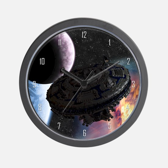 Space Ship Wall Clock