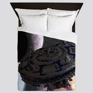 Space Ship Queen Duvet
