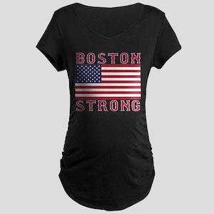 BOSTON STRONG U.S. Flag Maternity T-Shirt