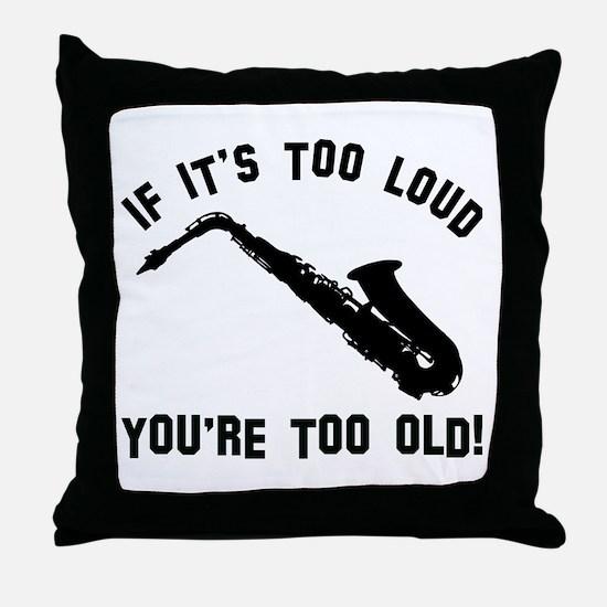 Alto Saxophone Vector designs Throw Pillow