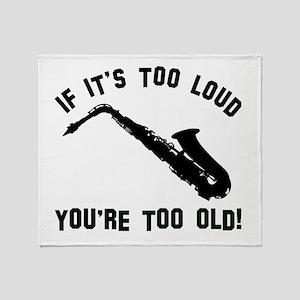 Alto Saxophone Vector designs Throw Blanket