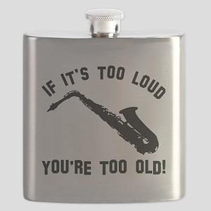 Alto Saxophone Vector designs Flask