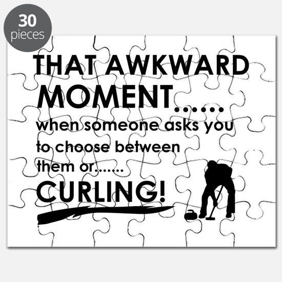 Curling sports designs Puzzle