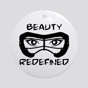 Lacrosse Beauty Redefined Ornament (Round)