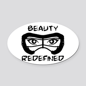 Lacrosse Beauty Redefined Oval Car Magnet