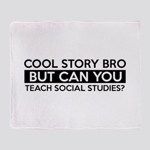 Teach Sociology job gifts Throw Blanket