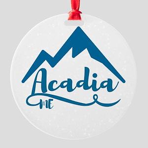 Acadia Maine Round Ornament