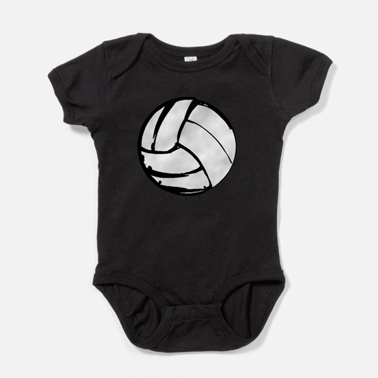 Simple Volleyball Baby Bodysuit