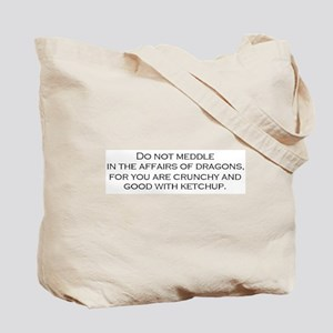 Leave the Dragons Alone Tote Bag