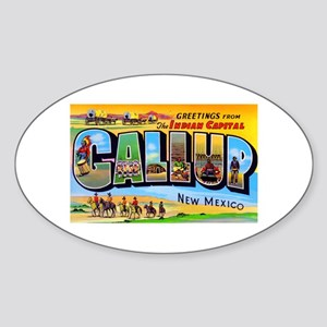 Gallup New Mexico Greetings Oval Sticker