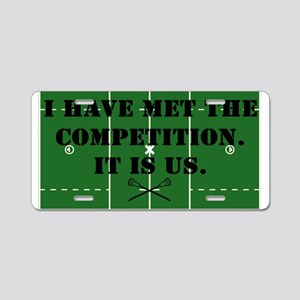 Lacrosse Competition Aluminum License Plate