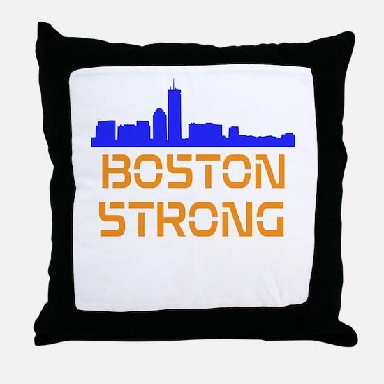 Boston Strong Skyline Throw Pillow