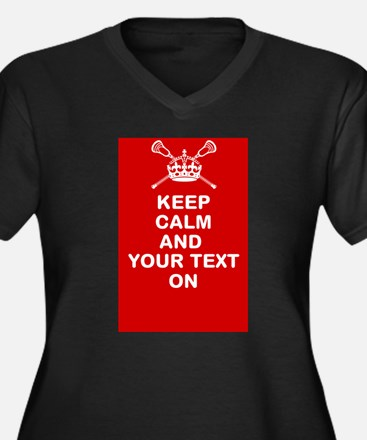 Lacrosse Keep Calm and ???? On Plus Size T-Shirt