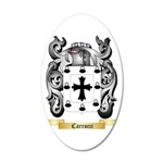 Carrocci 35x21 Oval Wall Decal