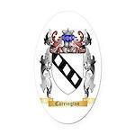 Carrington Oval Car Magnet