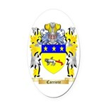 Carriere Oval Car Magnet