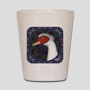 Muscovy Duck Head Decorative Shot Glass