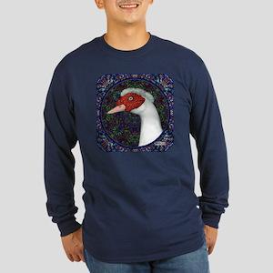 Muscovy Duck Head Decorative Long Sleeve T-Shirt
