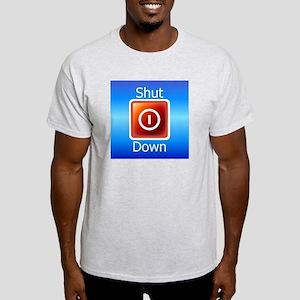 Shut Down Ash Grey T-Shirt