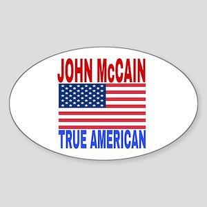 JOHN McCAIN TRUE AMERICAN Sticker